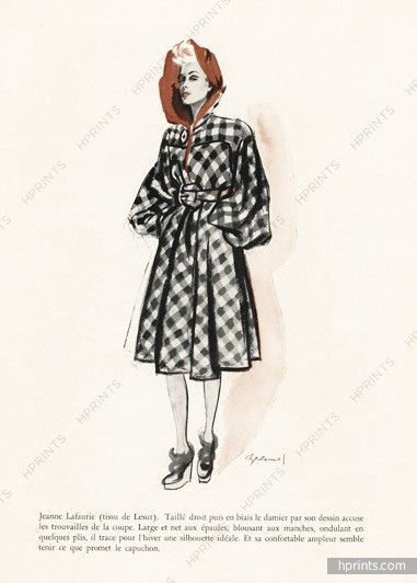Jeanne Lafaurie 1943 Winter Coat Brénot