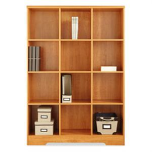 Office Depot Bookcase 129 Reale Magellan 12 Cube 63 916 H X 46 110 W 15 58 D Honey Maple By Officemax