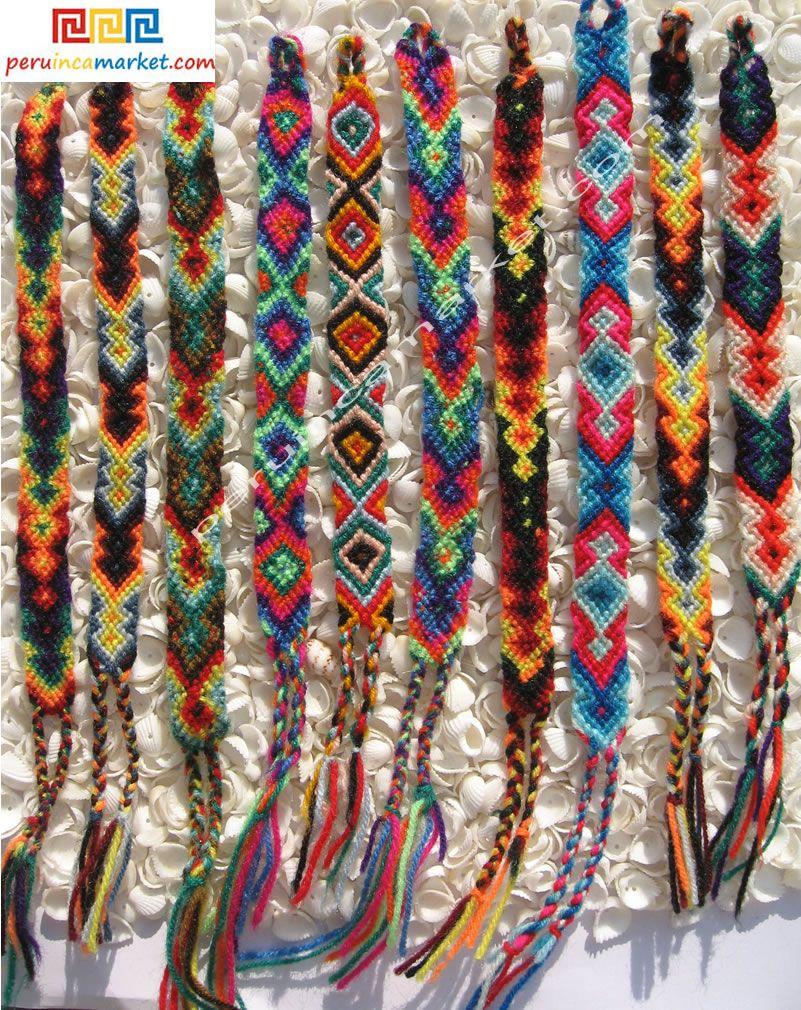 Wayuu band Beautiful bright coloured friendship band Macrame bracelet