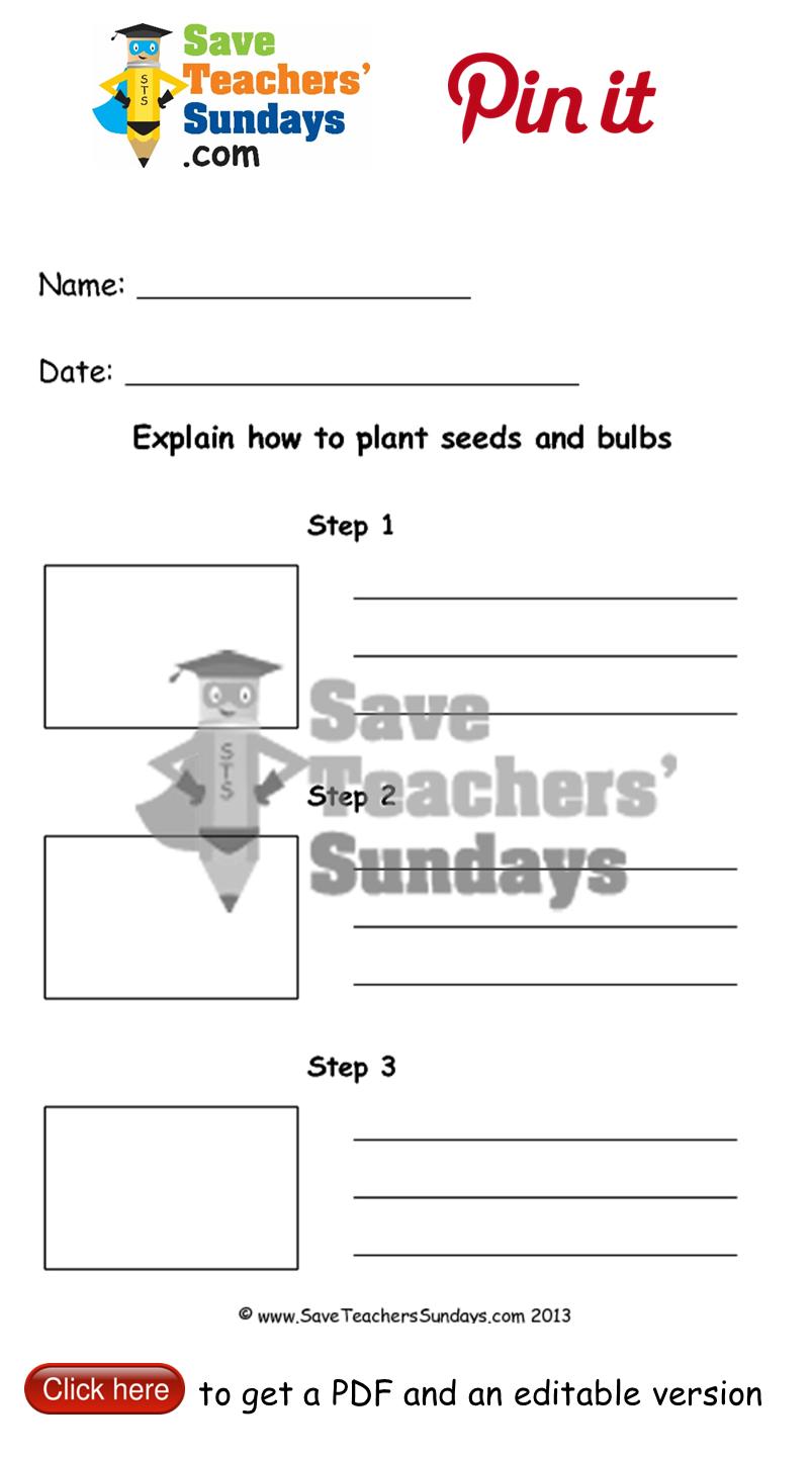planting seeds worksheet go to. Black Bedroom Furniture Sets. Home Design Ideas