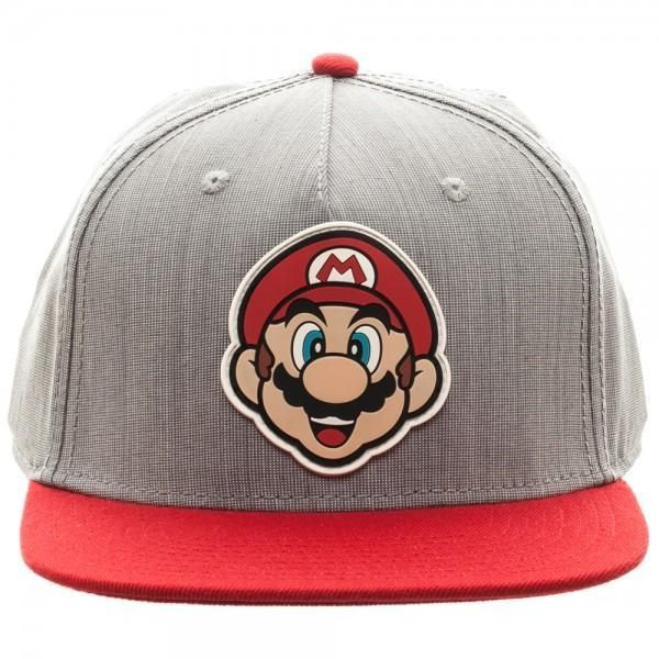 29ec497fd1f Nintendo Mario Rubber Sonic Weld Gray Red Snapback