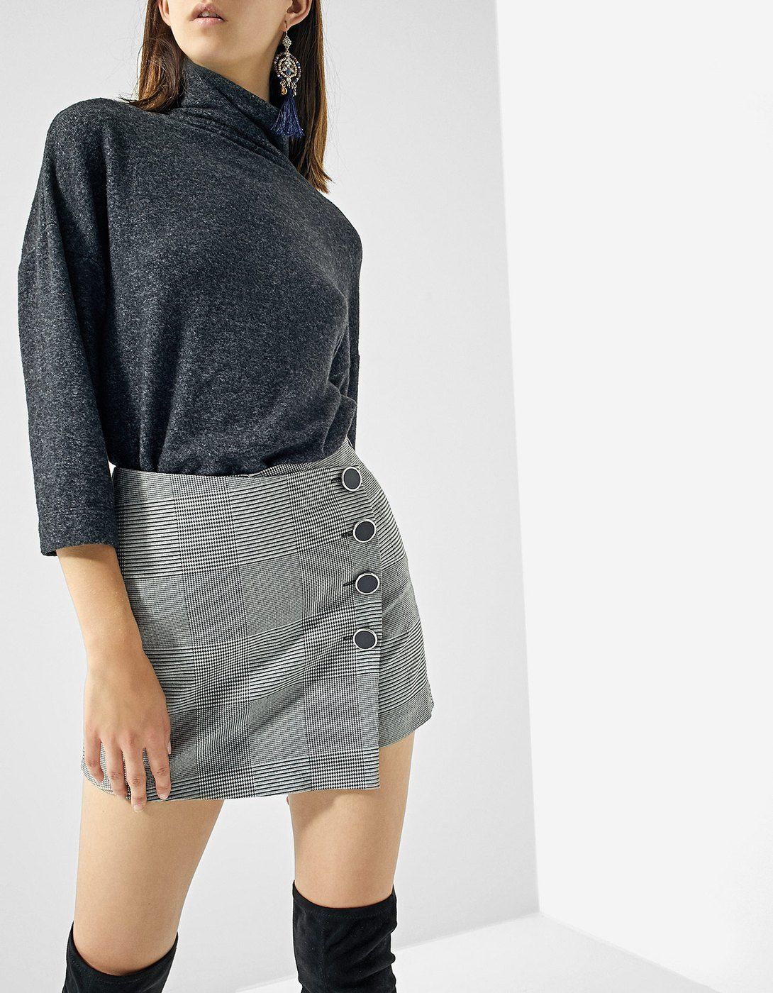 2c4b143b2 At Stradivarius you'll find 1 Printed skort with buttons for just 17.99  United Kingdom . Visit now to discover this and more Skirts.