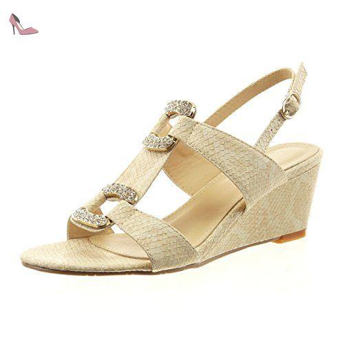 chaussure beige peau femme talon 4 cm