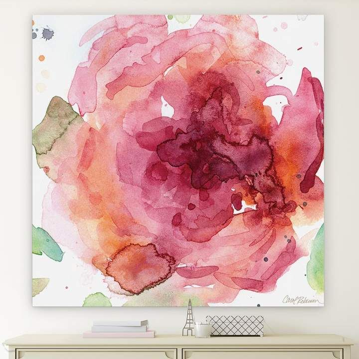 Winston Porter Bold Blush Ii Wrapped Canvas Oil Painting Print