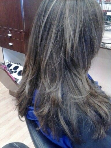 Brown Hair With Cool Toned Highlights Hair Done By Katie Smi At