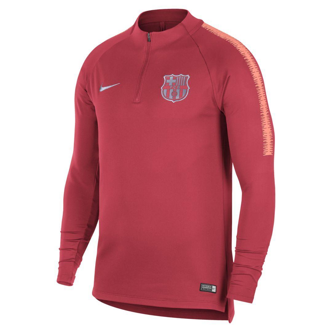 95da03d3f FC Barcelona Dri-FIT Squad Drill Men s Long Sleeve Soccer Top Size XL  (Tropical Pink)