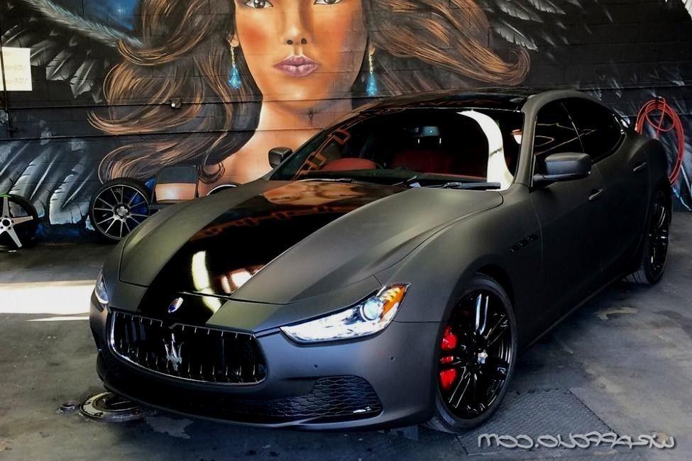 Matte Black Maserati Ghibli Wrap Wrapfolio Wheels Cars Maserati