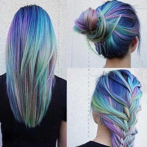 Darker Toned Opal Hair Mermaid Hair Color Hair Styles Hair Trends