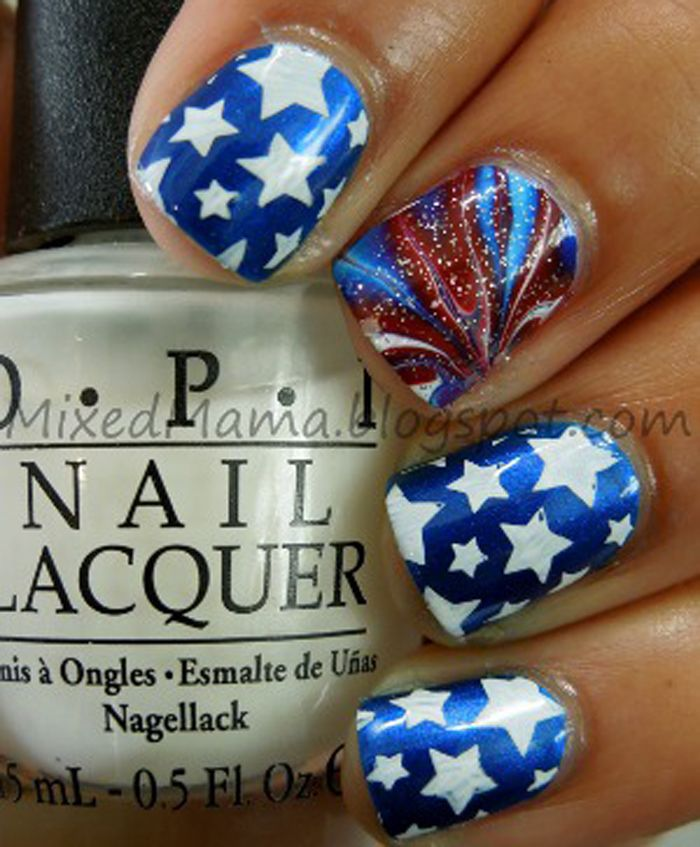 4th of July and Memorial Day Nail Art Design | beauty | Pinterest ...