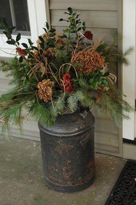Ideas de arreglos florales de invierno rama de arbol - Plantas perennes exterior ...