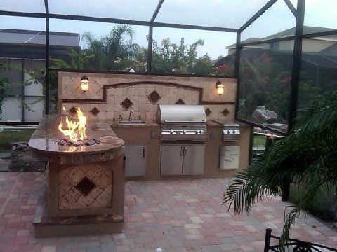 Outdoor Kitchens Bbq S With Images Outdoor Bbq Backyard Living Beautiful Backyards