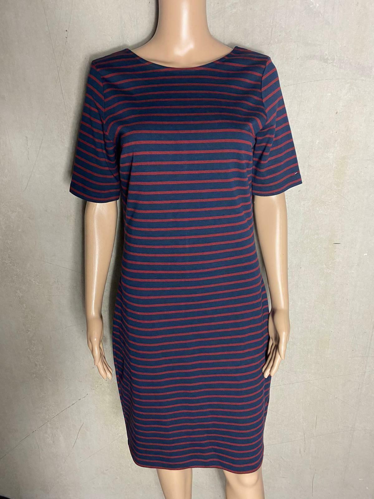 Tommy Hilfiger Schones Kleid Gestreift Blau Rot Midi Neu Gr M 38 130m In 2020 Gestreiftes Kleid Modische Kleider Fur Frauen Kleider Fur Frauen