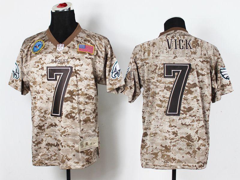 nike philadelphia eagles 7 michael vick salute to service digital camo elite nfl jersey