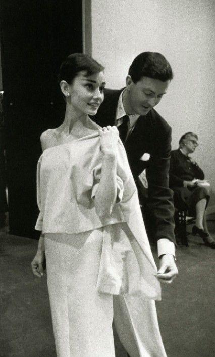 Audrey Hepburn and Hubert Givenchy