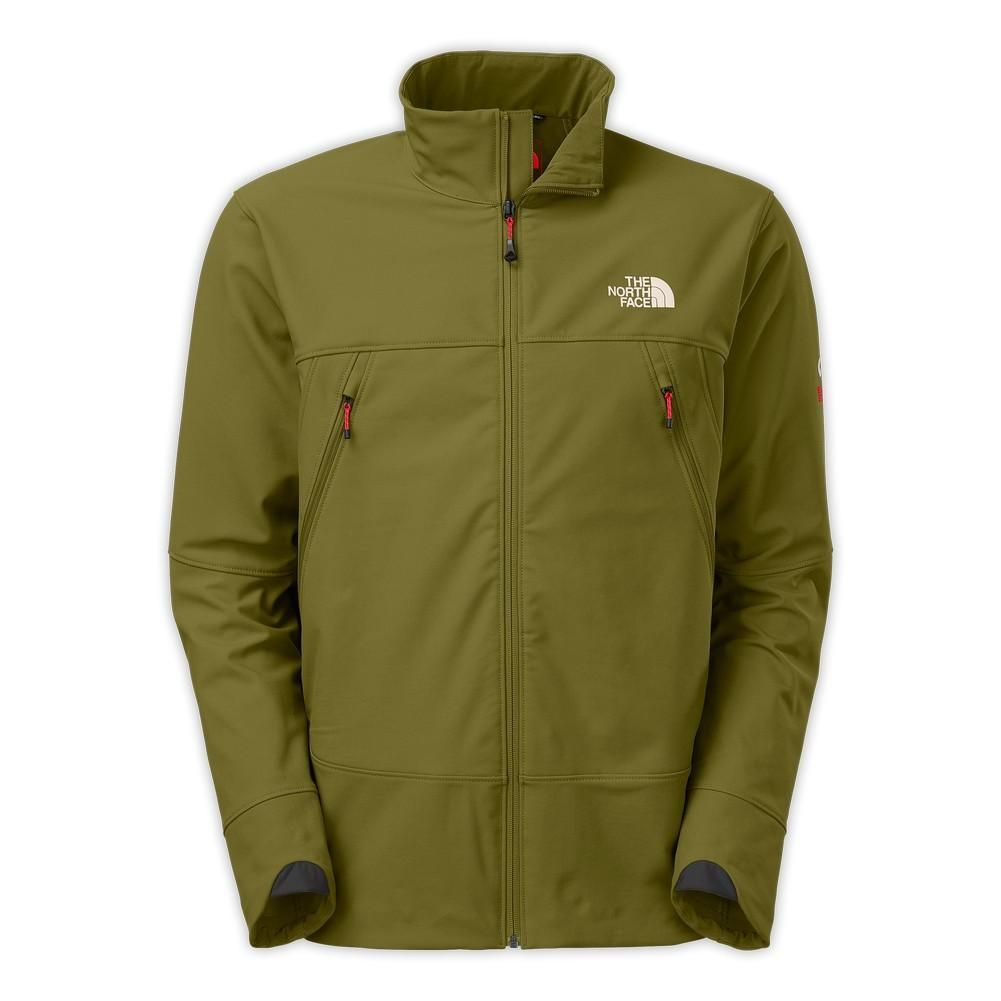 The North Face Men S Summit Series Jet Softshell Jacket G I Green Asphalt Grey Soft Shell Jacket Mens Jackets North Face Mens [ 1001 x 1001 Pixel ]