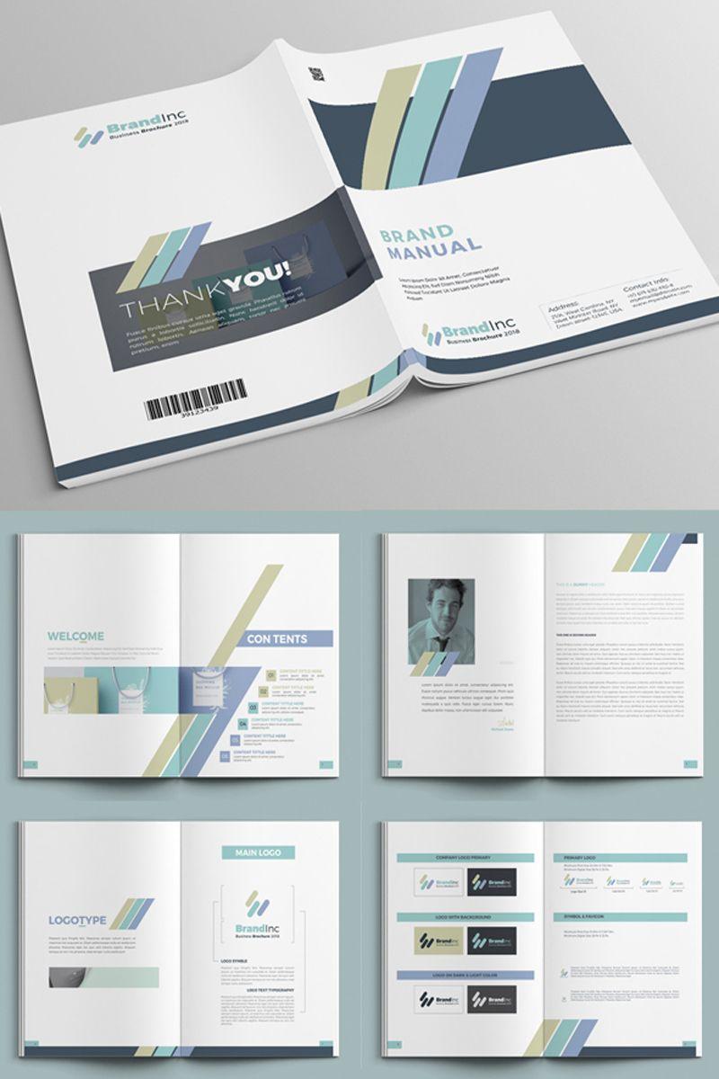 Minimal Brand Manual Indesign Corporate Identity Template 68767