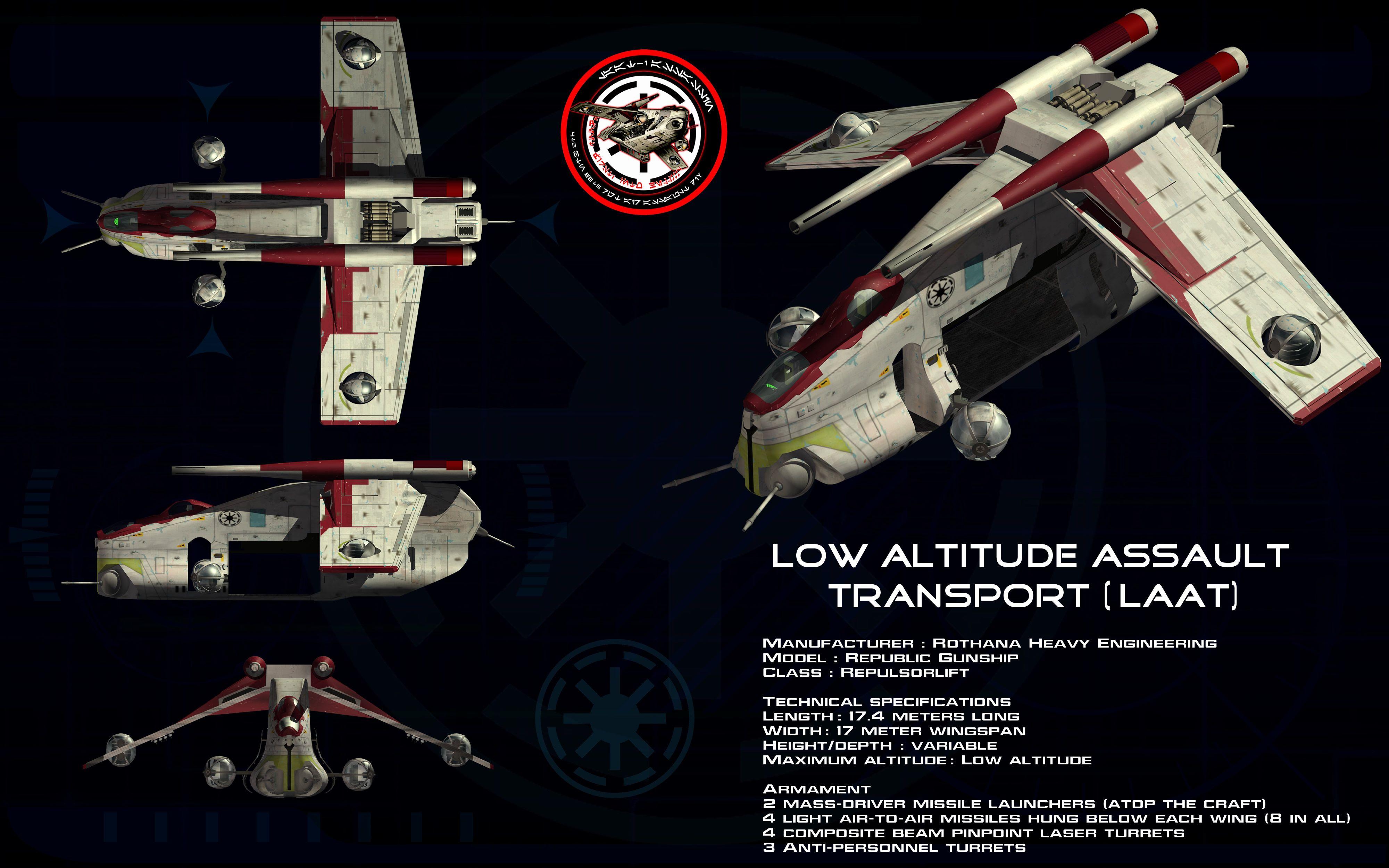 Low Altitude Assault Transport (LAAT) ortho by unusualsuspex on deviantART