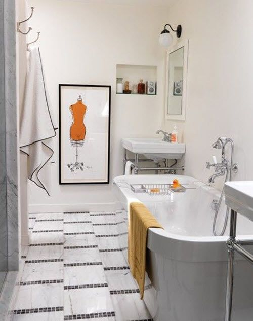 Mosaic Bathroom Designs 37 Black And White Mosaic Bathroom Floor Tile Ideas And Pictures