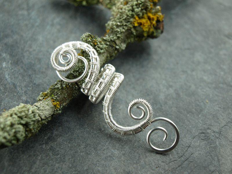Haarklammern - Dreadschmuck, wire work,Rasta, Dreadperle, Spirale - ein Designerstück von Klimm-Bimm bei DaWanda