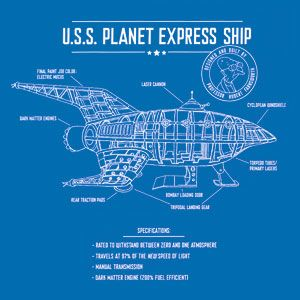 Planet Express Ship Schematic - would like as a poster/art print ...