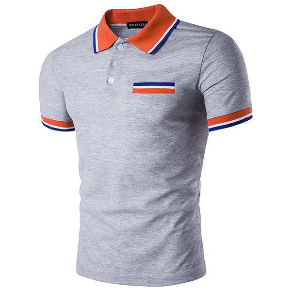 Mens Check Polo Shirts Summer Casual Cotton Short Sleeve Shirt Tops Size S-2XL