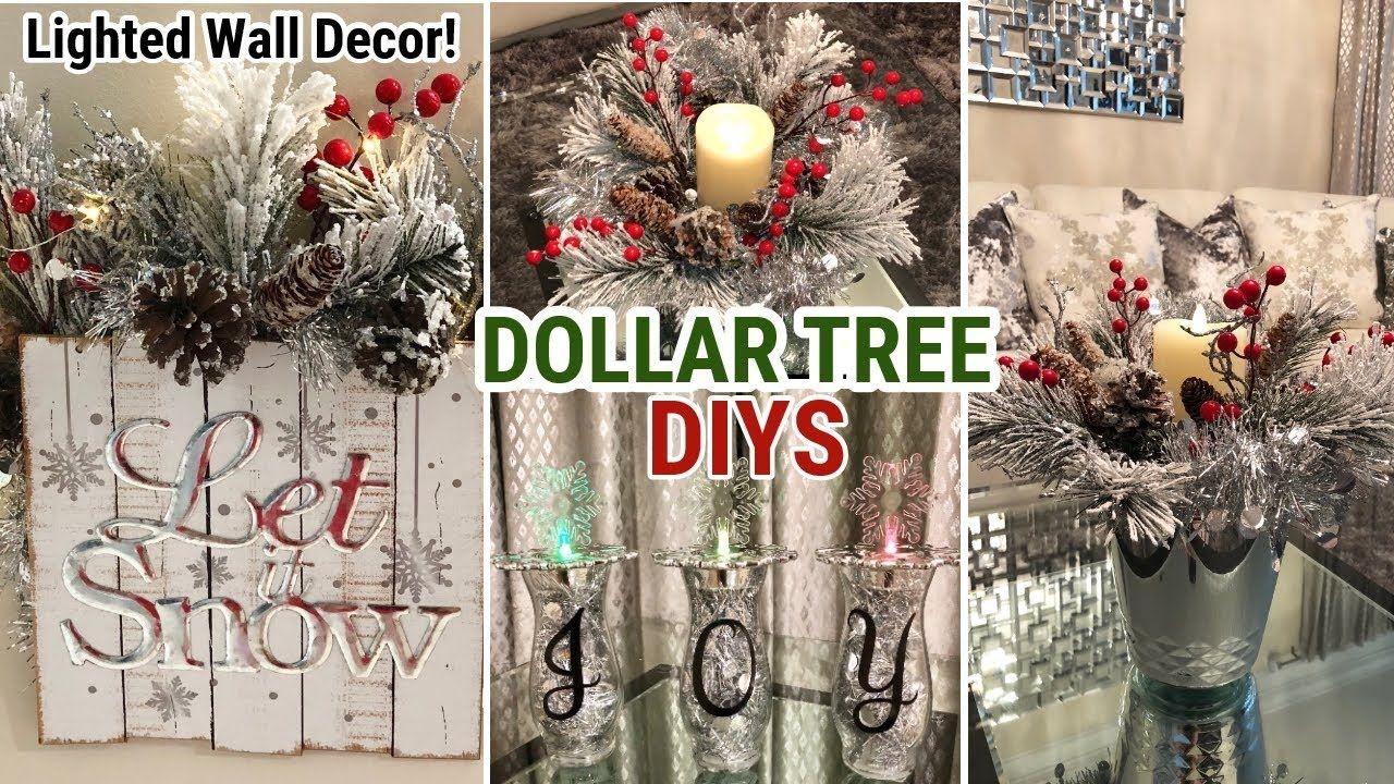 Dollar Tree Christmas Diy Winter Glam Decor Youtube Dollar Tree Christmas Decor Dollar Tree Decor Dollar Tree Christmas