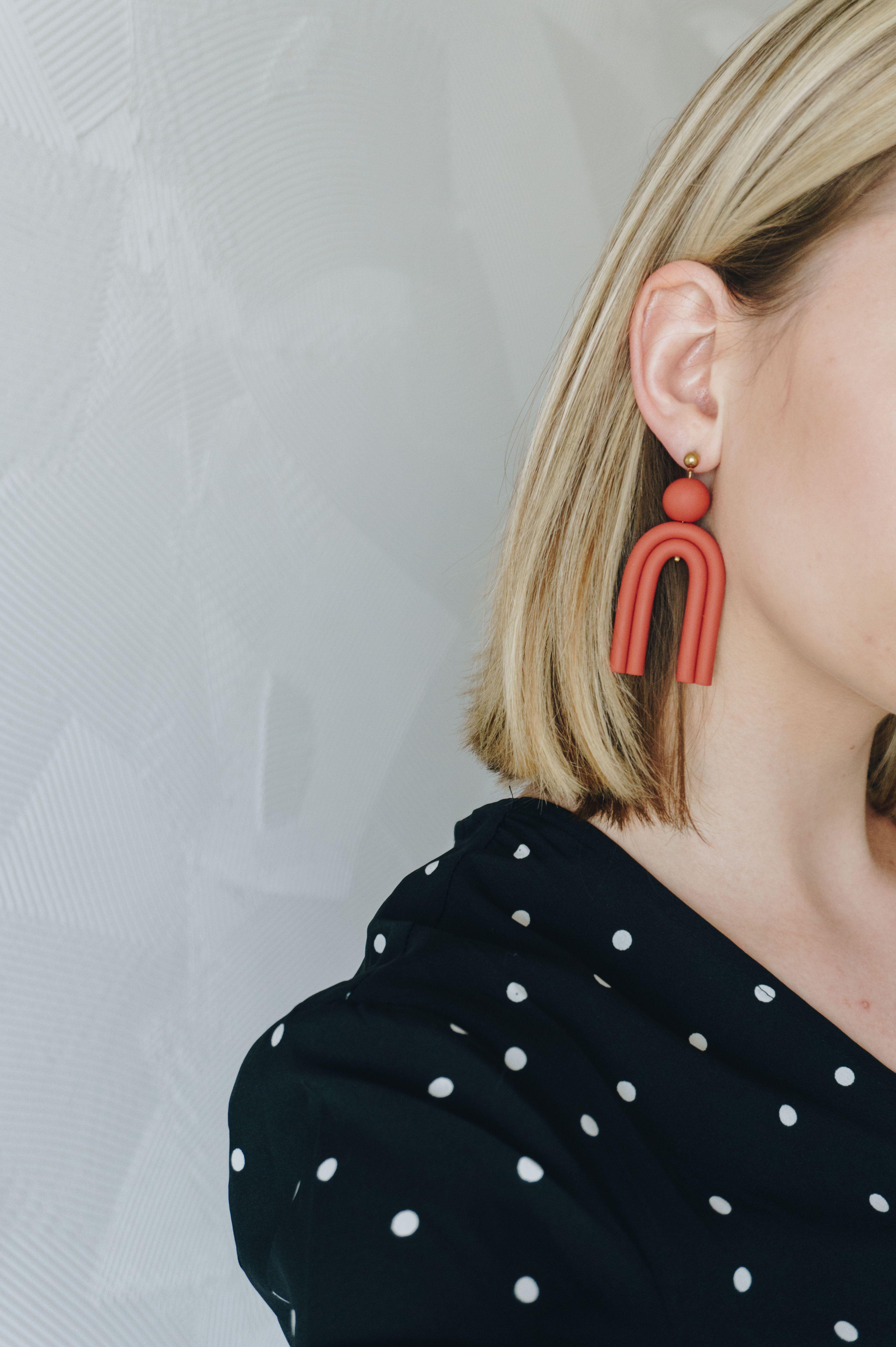 Photo of Bestseller / Polymer clay earrings / Modern jewelry / | Etsy