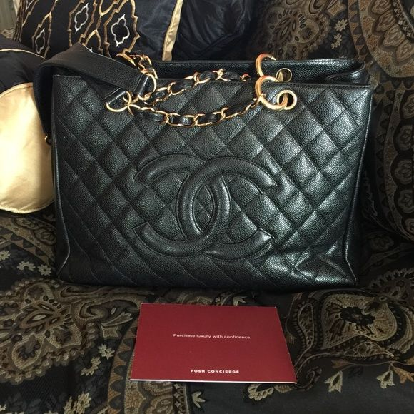 CHANEL GST💖black gold Preloved and well taken care of 💖 if