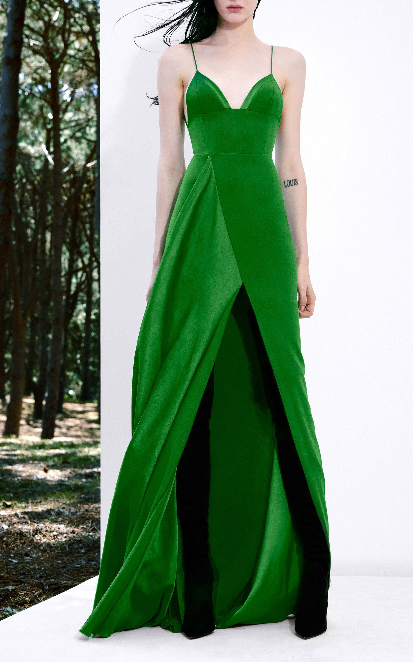 a0072b56bdf Harlyn Sleeveless Draped Satin Crepe Gown by ALEX PERRY for Preorder on  Moda Operandi