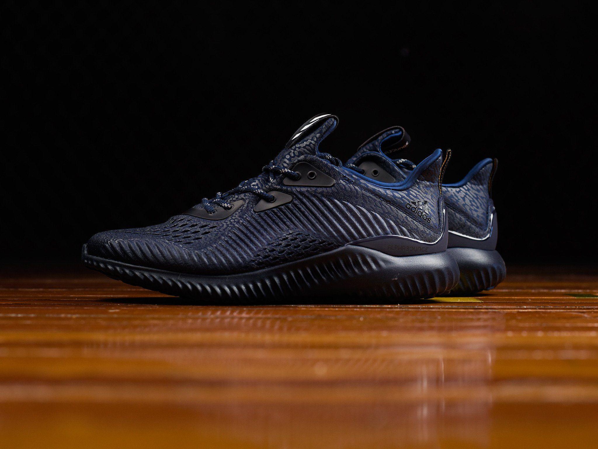New Trendy Adidas Alphabounce Ams Mystery Blue Collegiate Navy Black For Men Online