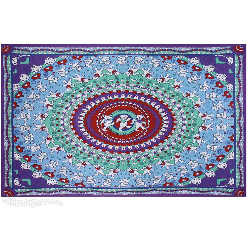 Grateful Dead Dancing Bear Tapestry On Sale For 27 95