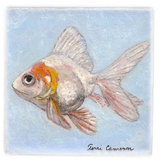 Orange And White Fantail Goldfish By Terricameron On Etsy Fantail Goldfish Goldfish Art Projects