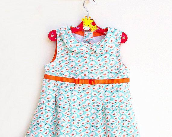 TWEET TWEET Girl Dress sewing pattern Pdf Sleeveless di PUPERITA