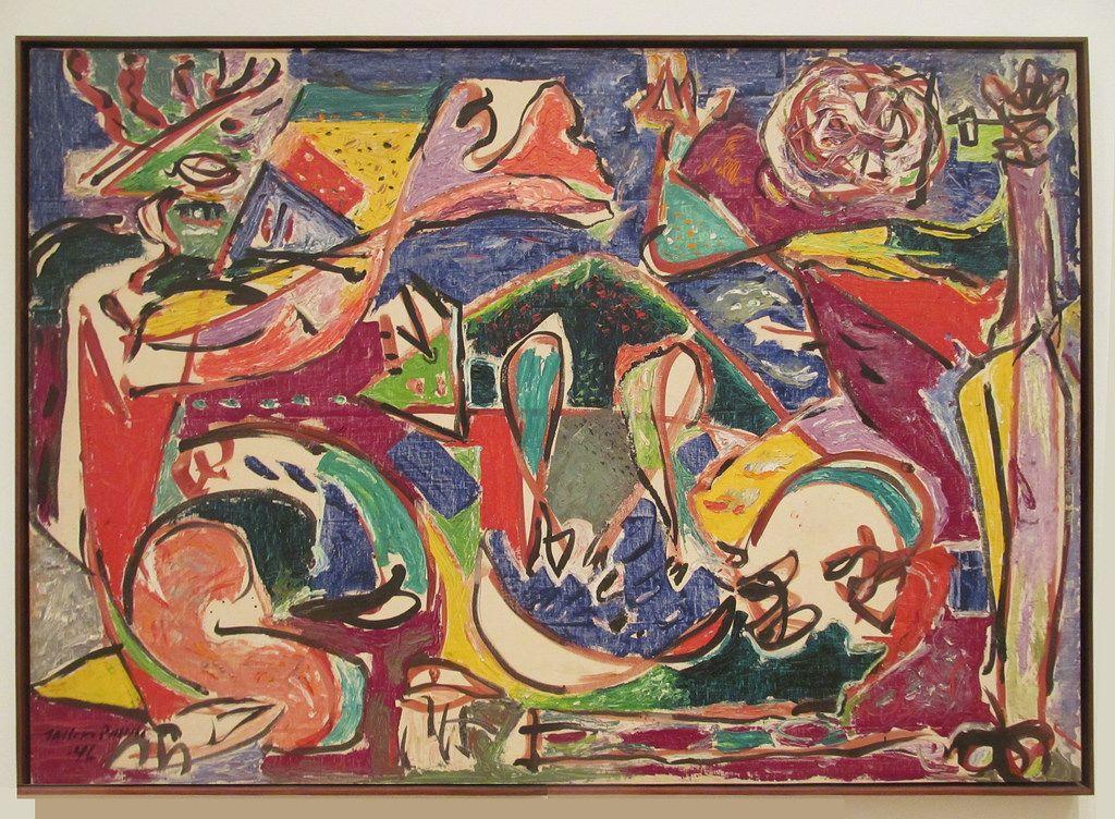 Jackson Pollock  The Key, 1946. Oil on linen (1912-1956) Art Institute of Chicago