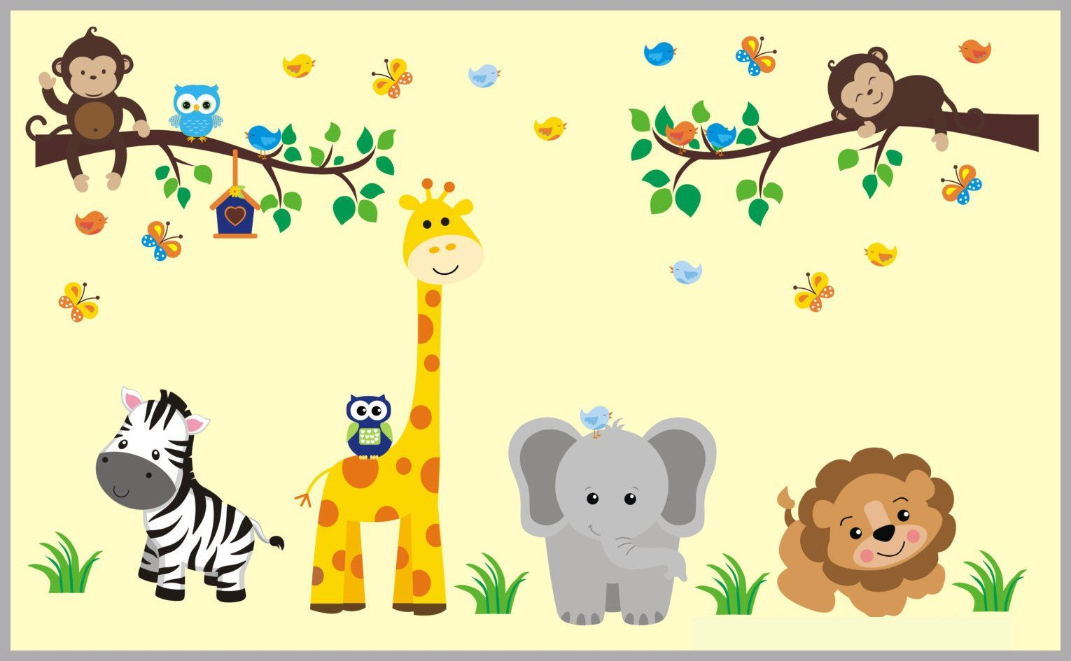 Large Animal Decals - Safari Wall Decals - Nature Wall Decals ...