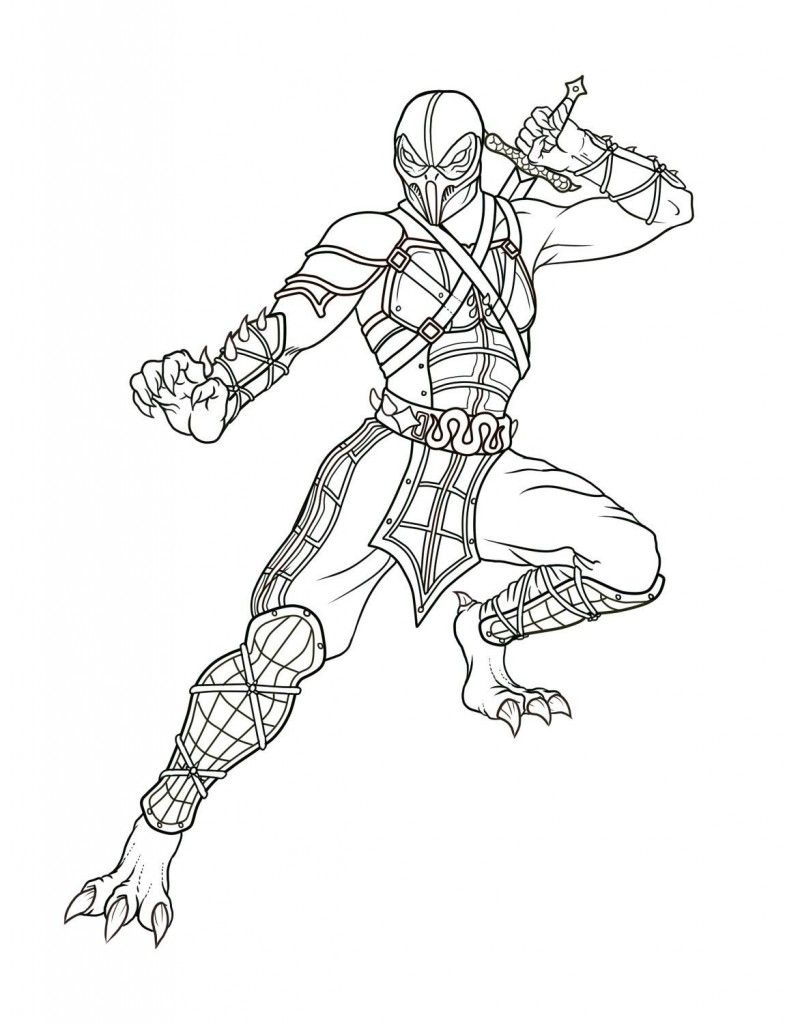 awesome Free pictures to colors of Mortal Kombat | Colouring Pages ...