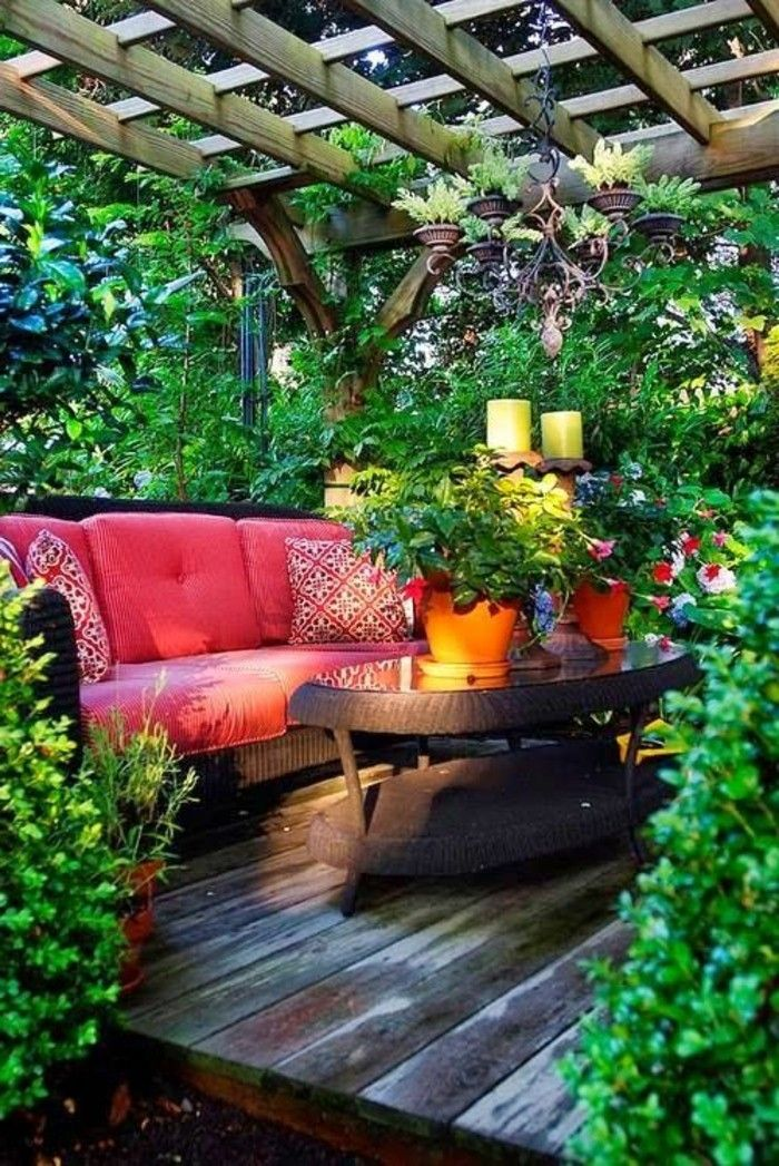Balkon Bepflanzen Rattan Möbel Mein Schöner Garten