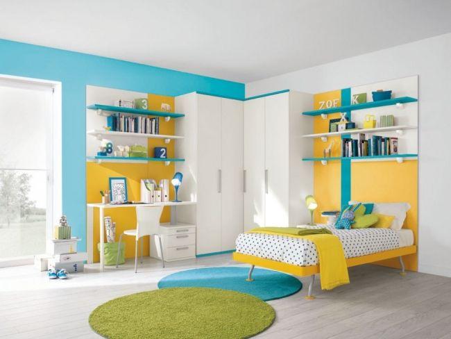 grün gelb blau wohnideen kinderzimmer universal design ...