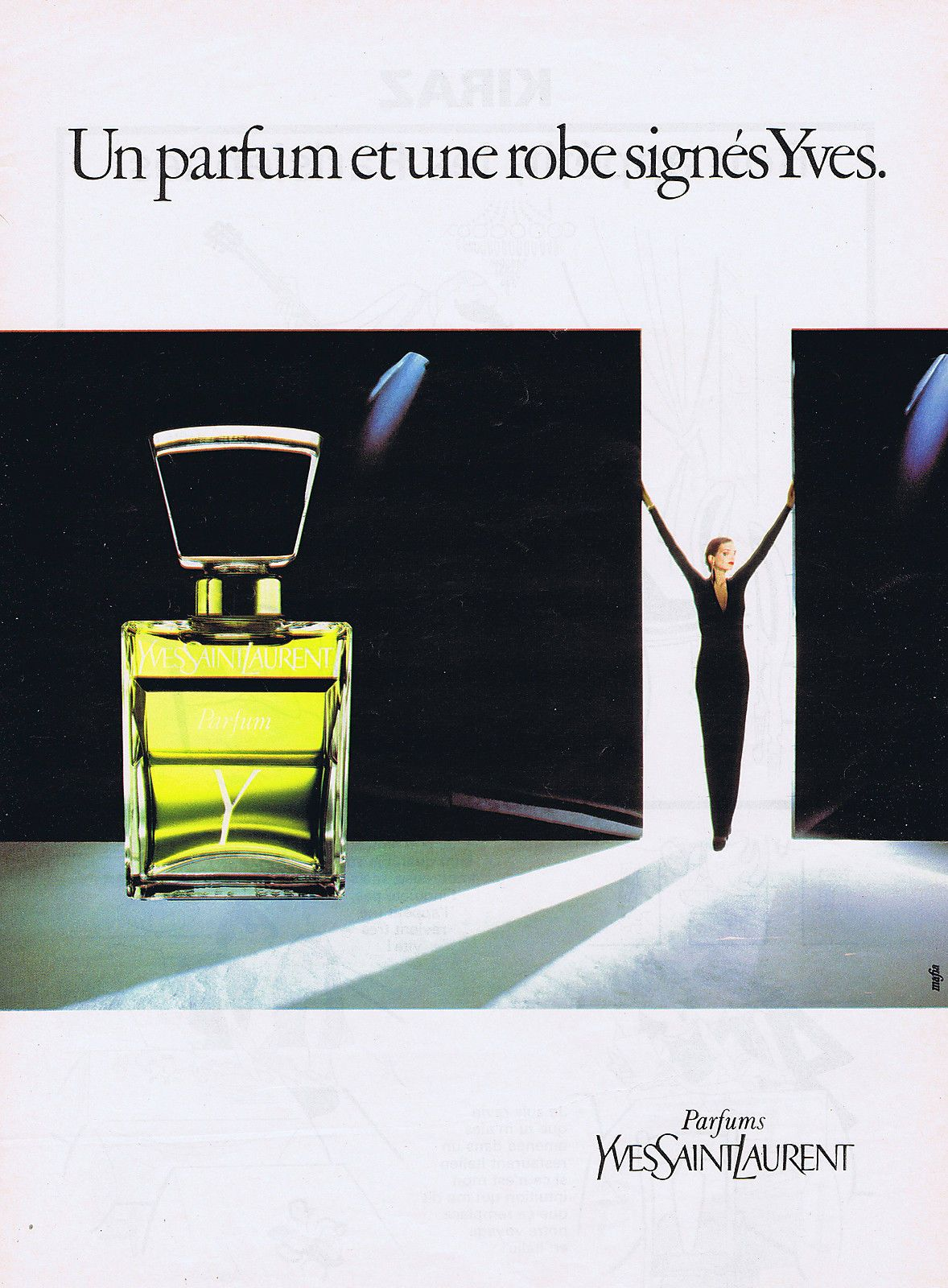 Publicite Advertising 064 1983 Tout Est Sign Yves Saint Laurent Parfum Mafia
