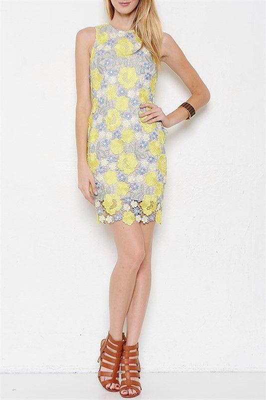 Floral Borealis Laced Dress