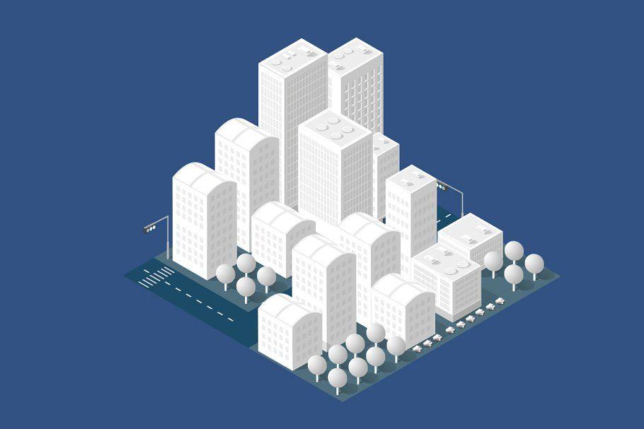 Street Town Buildings Modern 3d Town Building Modern Buildings City Buildings