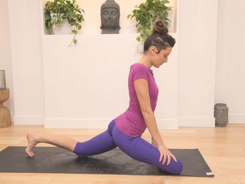 hanumanasana part 2 thighs and hips yoga video with