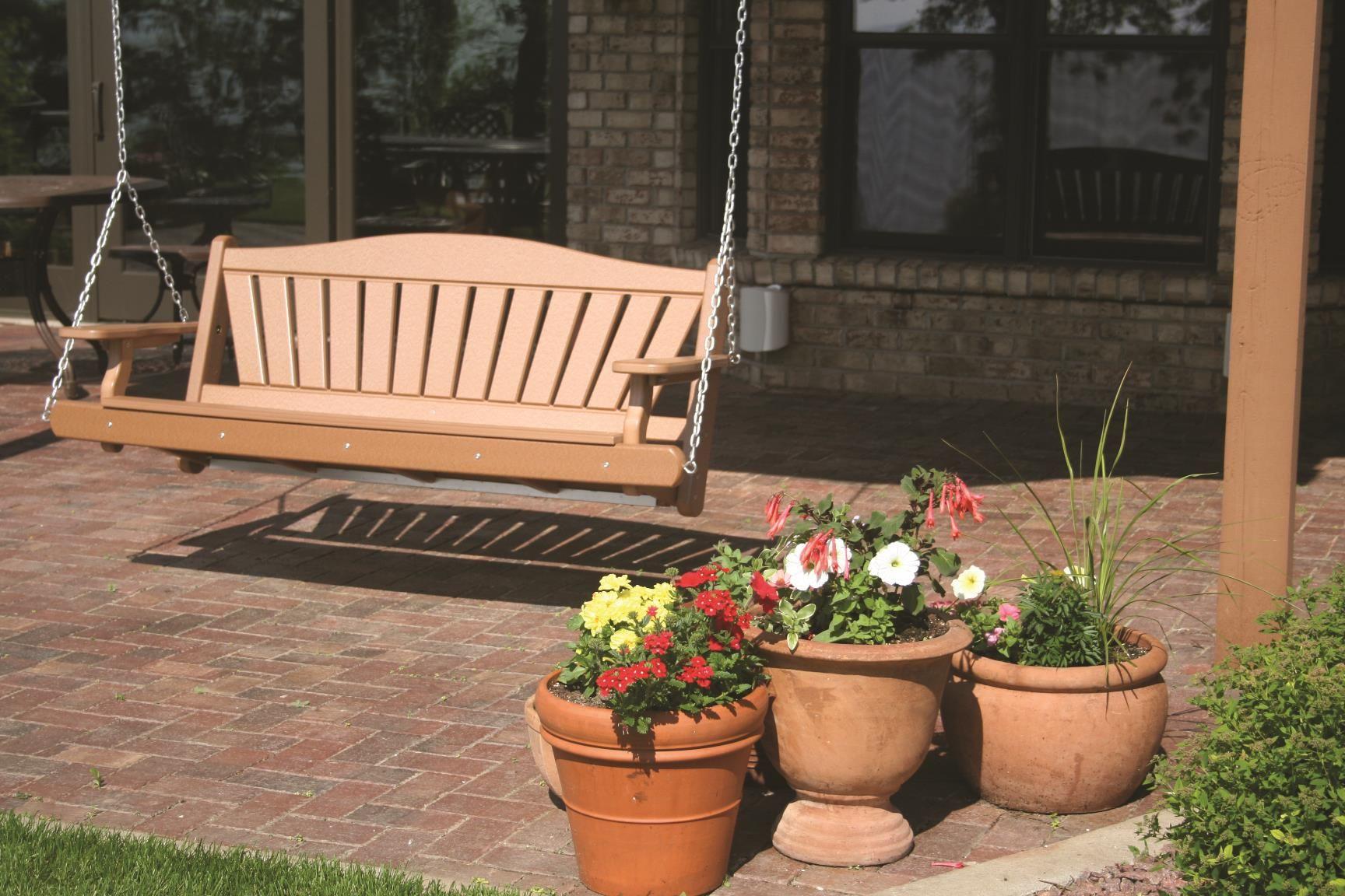 Recycled poly backyard porch swing in poly backyard patio