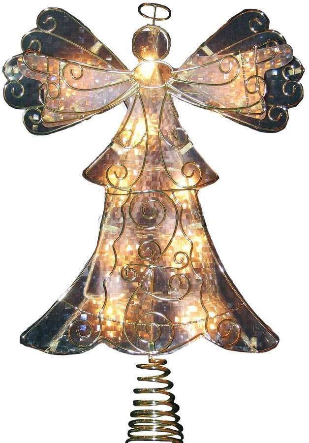 Kurt Adler 10-in LED Angel Christmas Tree Topper #LED#Kurt#Adler
