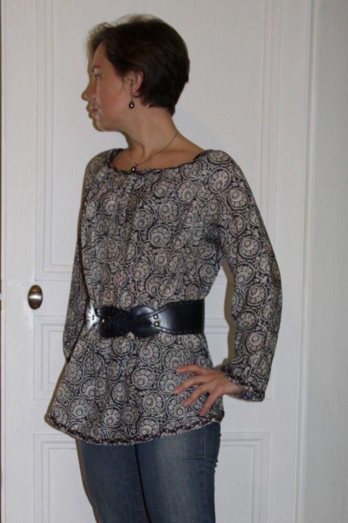beau patron gratuit tunique manche longue | couture | Pinterest
