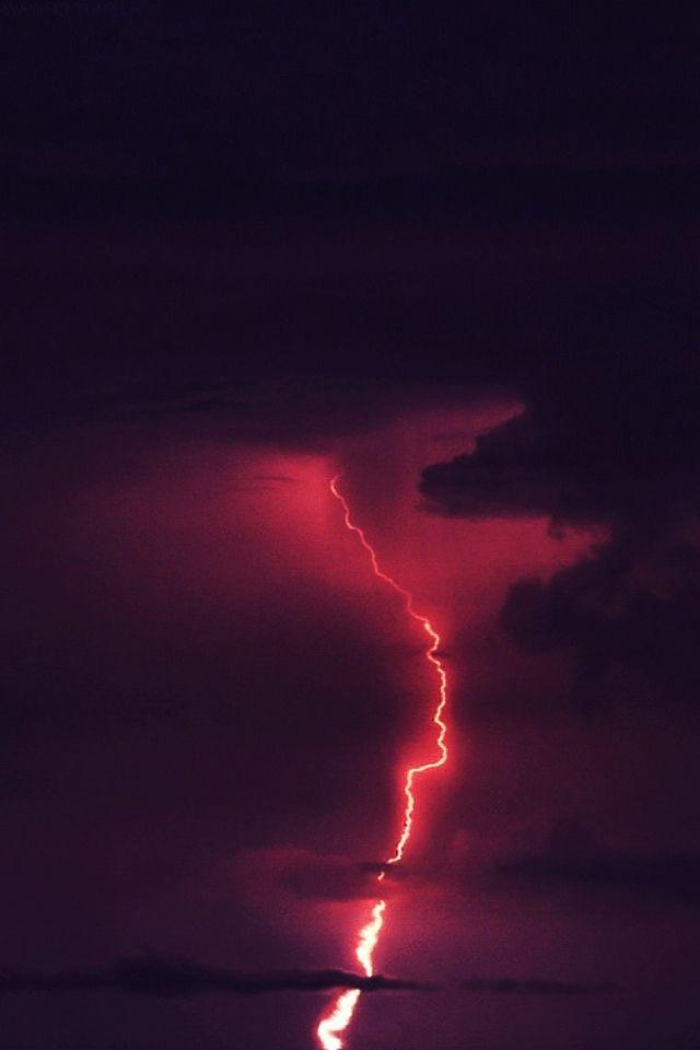 Lightning Red Aesthetic Lightning Storm Aesthetic Roses