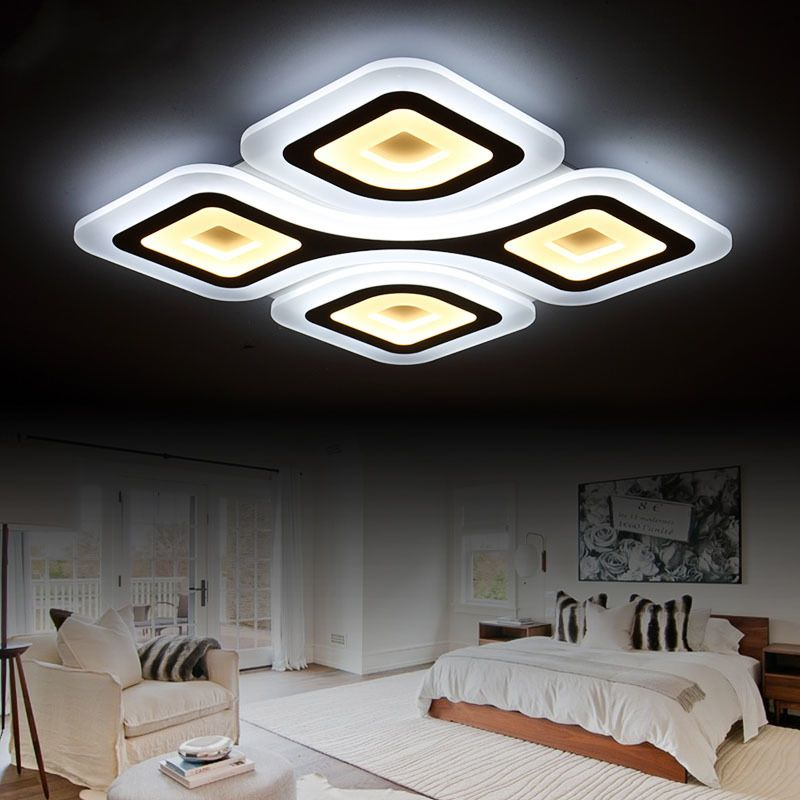 Remote Control Wireless Dimmable Modern Ceiling Chandelier Lights High Quality Cool And Warm LED Lamp For Living Room Renovation Ideas