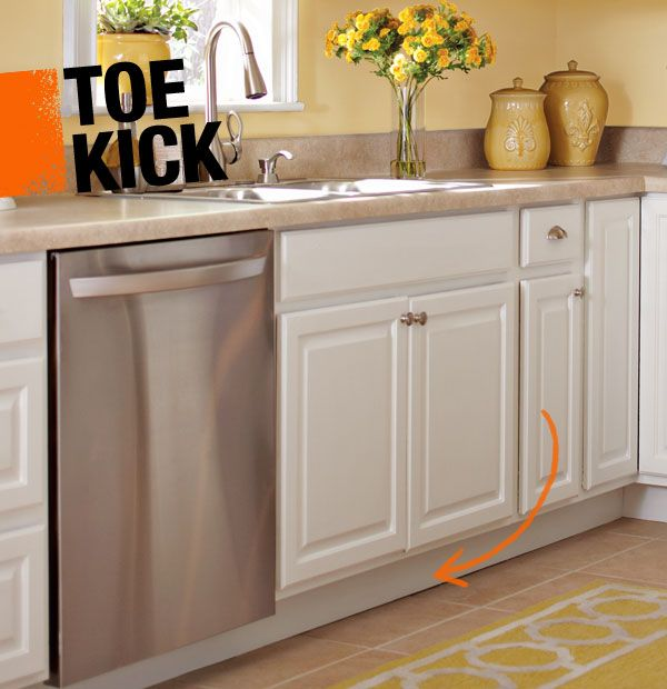 A Toe Kick Is The Recess At The Bottom Of A Base Cabinet