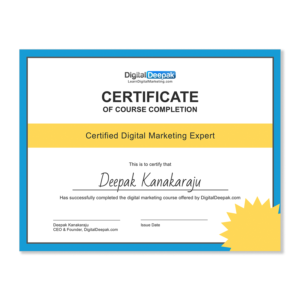 certificate completion course courses 99designs marketing digital
