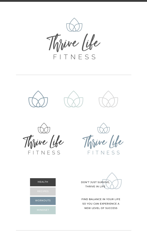 Brand Launch | Thrive Life Fitness · bebolddesignstudio.com  #logo #branding #creative #health #fitn...